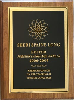Sheri Spaine Long Editor of Foreign Language Annals